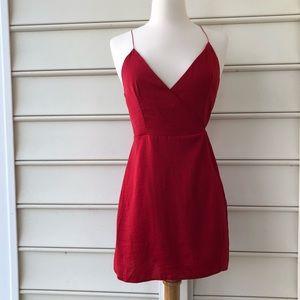 Asos mini silk wrap dress